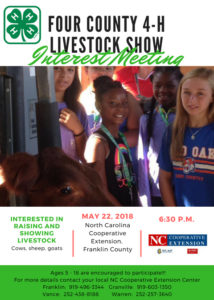 our County 4-H Livestock Interest Meeting flyer