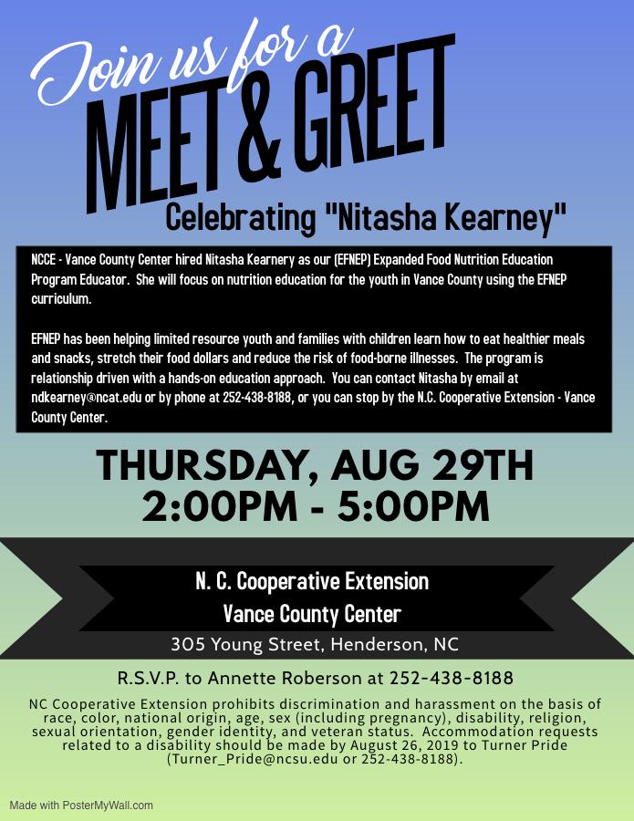 Meet & Greet flyer image