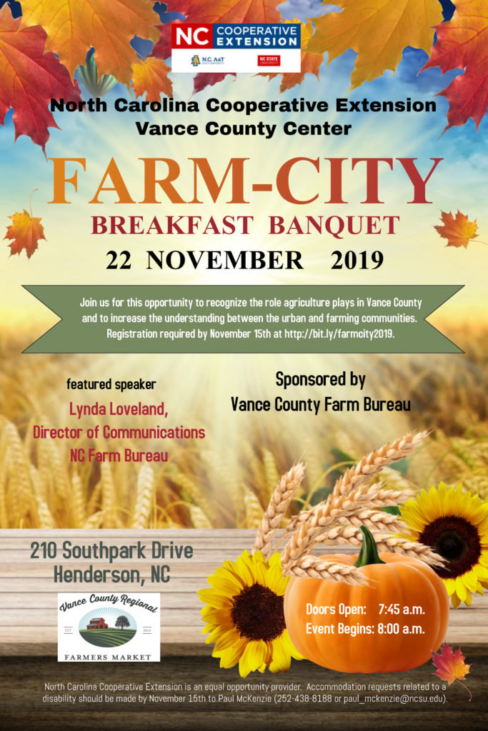 Farm City Breakfast Banquet flyer