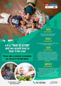 Cover photo for Vance County 4-H Survey