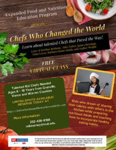 Cover photo for EFNEP Presents Chefs Who Changed the World