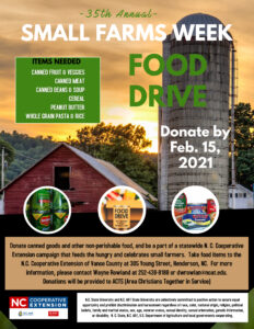 Cover photo for Small Farms Week Food Drive
