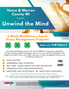 Cover photo for Vance & Warren County 4-H Presents Unwind the Mind