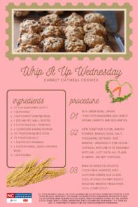 Carrot Oatmeal Cookies