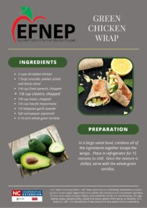 Green chicken wrap