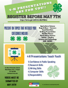 4-H PRESENTATION DAY REGISTERATION