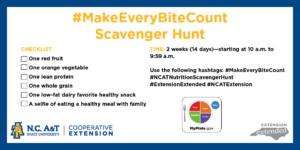 Cover photo for #Make EveryBiteCount Scavenger Hunt