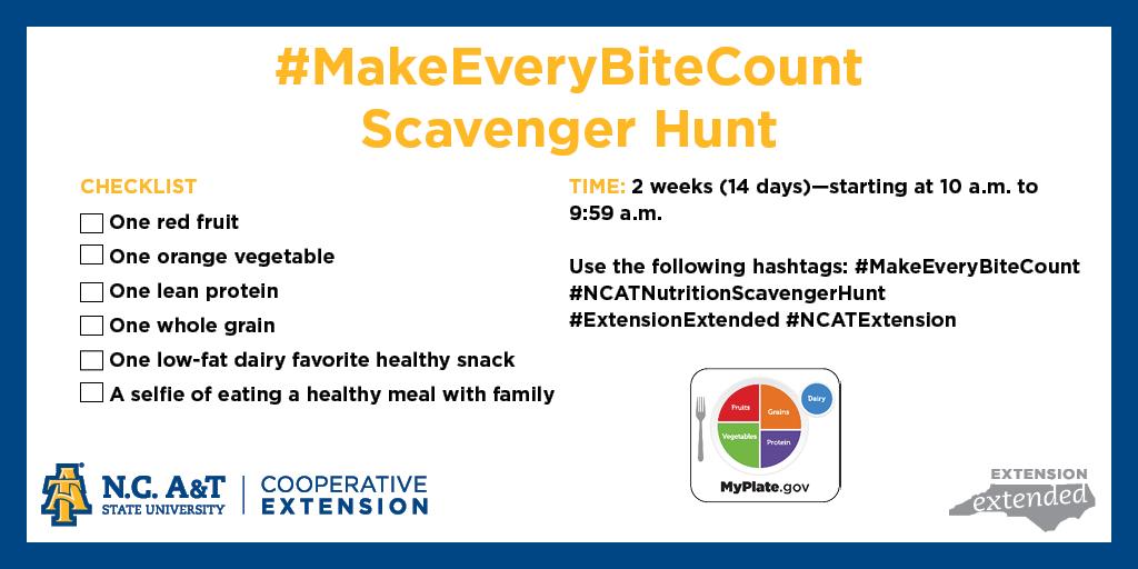 #Make EveryBiteCount Scavenger Hunt | North Carolina ...