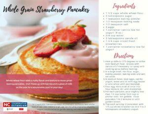 Whole Grain Strawberry Pancakes