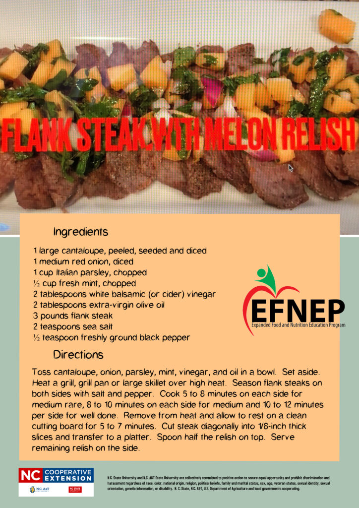 Flank steak with relish