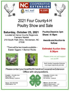 Cover photo for 2021 Four County 4-H Poultry Show and Sale
