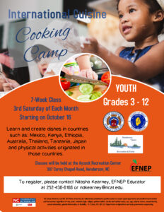 Cover photo for International Cuisine Cooking Camp